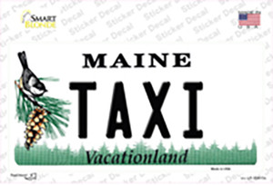 Taxi Maine Wholesale Novelty Sticker Decal