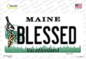 Blessed Maine Wholesale Novelty Sticker Decal