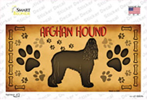 Afghan Hound Wholesale Novelty Sticker Decal