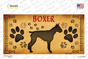 Boxer Wholesale Novelty Sticker Decal