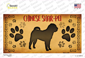 Chinese Shar Pei Wholesale Novelty Sticker Decal