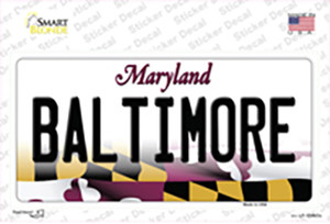 Baltimore Maryland Wholesale Novelty Sticker Decal