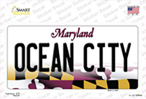 Ocean City Maryland Wholesale Novelty Sticker Decal