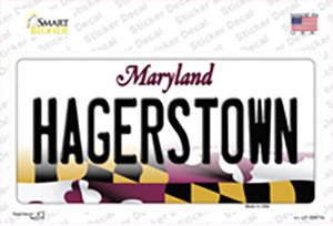 Hagerstown Maryland Wholesale Novelty Sticker Decal