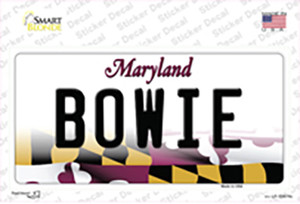 Bowie Maryland Wholesale Novelty Sticker Decal