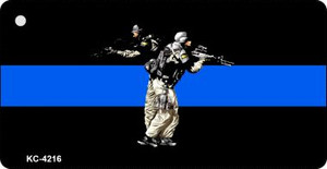 Thin Blue Line Police Swat Wholesale Novelty Key Chain