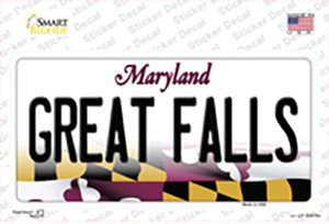 Great Falls Maryland Wholesale Novelty Sticker Decal
