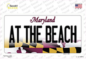 At The Beach Maryland Wholesale Novelty Sticker Decal