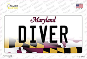 Diver Maryland Wholesale Novelty Sticker Decal