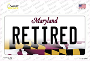 Retired Maryland Wholesale Novelty Sticker Decal