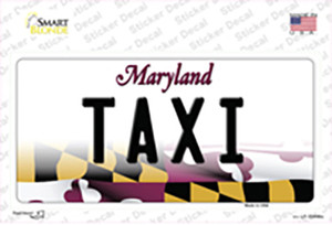 Taxi Maryland Wholesale Novelty Sticker Decal