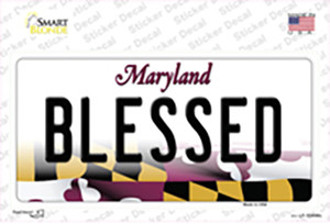 Blessed Maryland Wholesale Novelty Sticker Decal