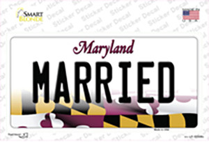 Married Maryland Wholesale Novelty Sticker Decal