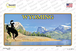 Wyoming Blank Wholesale Novelty Sticker Decal