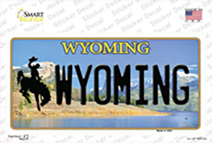 Wyoming Wholesale Novelty Sticker Decal