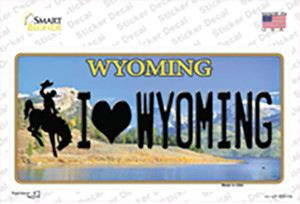 I Love Wyoming Wholesale Novelty Sticker Decal