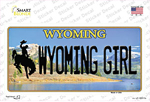 Wyoming Girl Wholesale Novelty Sticker Decal
