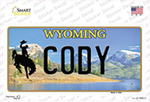 Cody Wyoming Wholesale Novelty Sticker Decal
