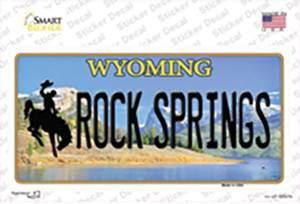 Rock Springs Wyoming Wholesale Novelty Sticker Decal