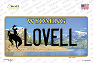 Lovell Wyoming Wholesale Novelty Sticker Decal