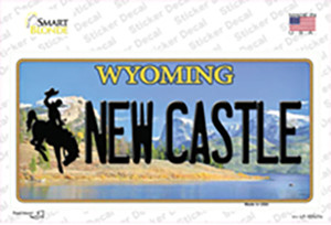 New Castle Wyoming Wholesale Novelty Sticker Decal