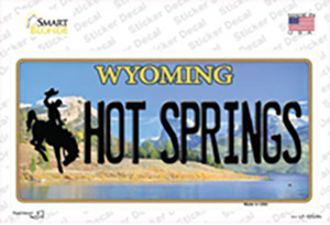 Hot Springs Wyoming Wholesale Novelty Sticker Decal