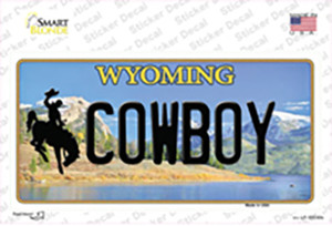 Cowboy Wyoming Wholesale Novelty Sticker Decal