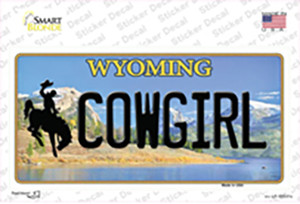 Cowgirl Wyoming Wholesale Novelty Sticker Decal