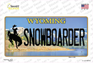 Snowboarder Wyoming Wholesale Novelty Sticker Decal