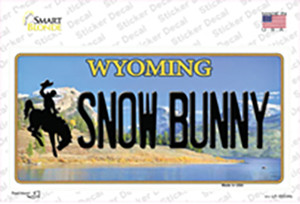 Snow Bunny Wyoming Wholesale Novelty Sticker Decal