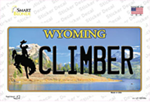 Climber Wyoming Wholesale Novelty Sticker Decal