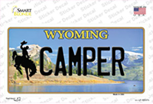 Camper Wyoming Wholesale Novelty Sticker Decal