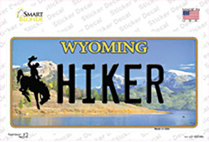 Hiker Wyoming Wholesale Novelty Sticker Decal