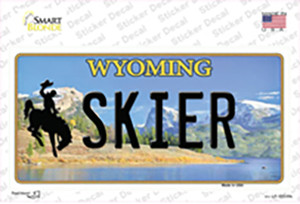 Skier Wyoming Wholesale Novelty Sticker Decal