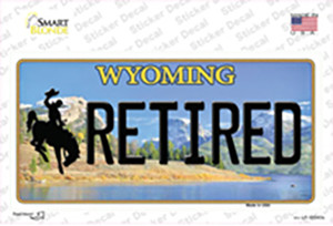 Retired Wyoming Wholesale Novelty Sticker Decal