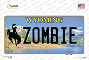Zombie Wyoming Wholesale Novelty Sticker Decal