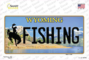 Fishing Wyoming Wholesale Novelty Sticker Decal