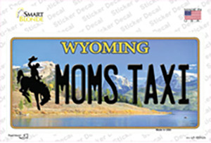 Moms Taxi Wyoming Wholesale Novelty Sticker Decal