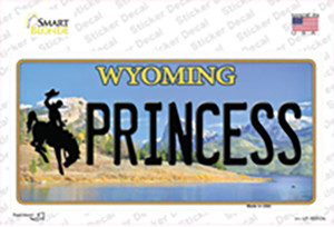 Princess Wyoming Wholesale Novelty Sticker Decal