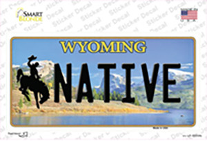 Native Wyoming Wholesale Novelty Sticker Decal