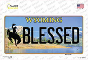 Blessed Wyoming Wholesale Novelty Sticker Decal