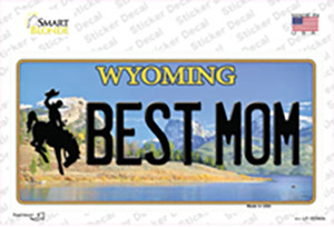 Best Mom Wyoming Wholesale Novelty Sticker Decal