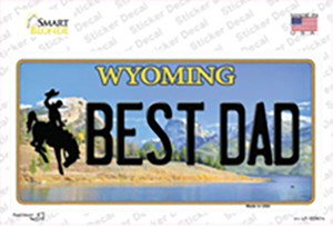 Best Dad Wyoming Wholesale Novelty Sticker Decal