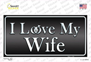 I Love My Wife Wholesale Novelty Sticker Decal