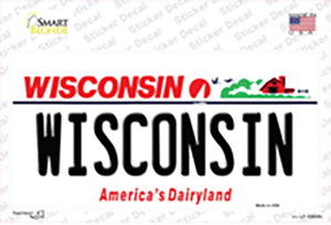 Wisconsin Wholesale Novelty Sticker Decal