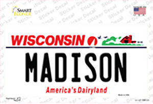 Madison Wisconsin Wholesale Novelty Sticker Decal