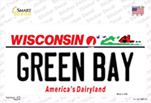 Green Bay Wisconsin Wholesale Novelty Sticker Decal