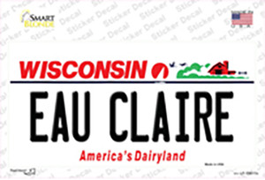 Eau Claire Wisconsin Wholesale Novelty Sticker Decal