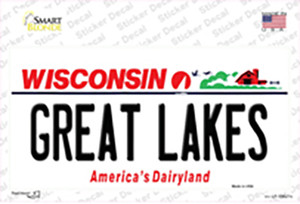 Great Lakes Wisconsin Wholesale Novelty Sticker Decal