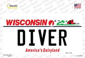 Diver Wisconsin Wholesale Novelty Sticker Decal